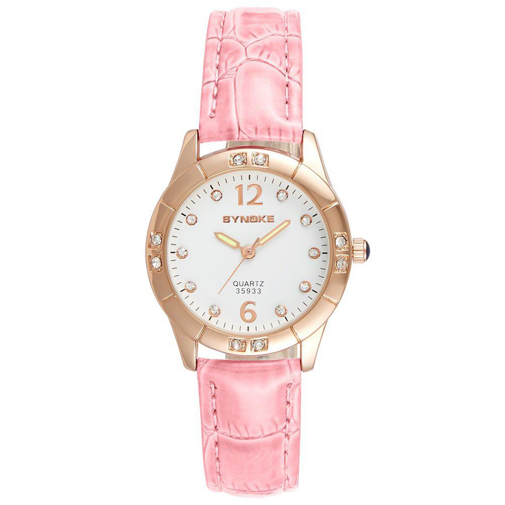 Online SYNOKE Fashionable PU Watchband Waterproof Female Quartz Watch