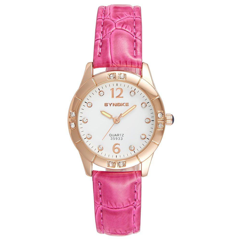Discount SYNOKE Fashionable PU Watchband Waterproof Female Quartz Watch