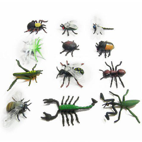 Latest Simulation Insect Model Children Toy Spider Beetle Locusts Dragonfly Ant Scorpion Flies 12PCS