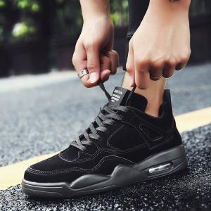 2018 New Arrival PU Leather Basketball Shoes -