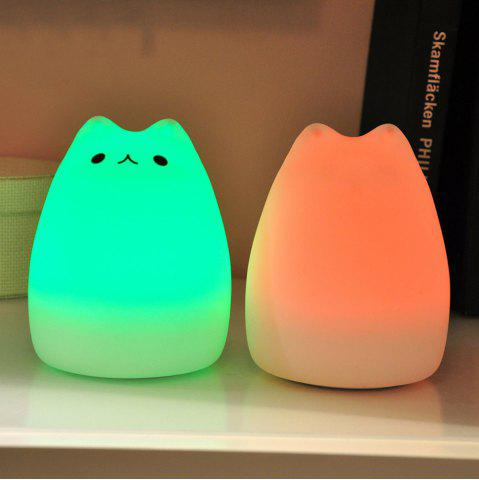 Discount Cat Pattern Silica Gel Lamp Sleeping Animal Night Light Colorful Bed Lights