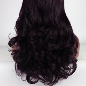 Brown Color Long Curly Heat Resistant Synthetic Hair Lace Front Wigs for Women -