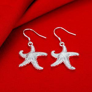 Cute Starfish Shape Drop Earrings Charm Jewelry -