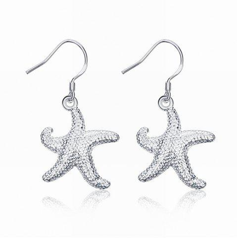 Discount Cute Starfish Shape Drop Earrings Charm Jewelry