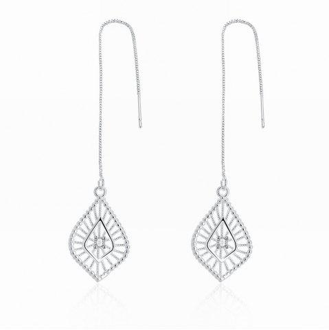 New Fashion Hollow Out Leaf Shape Long Drop Earrings Charm Jewelry