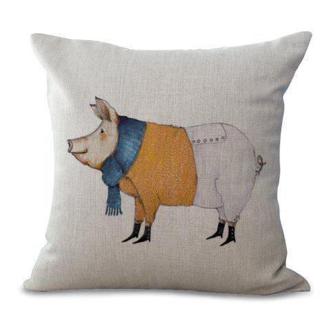 Buy A1091-1 Lovely Pig Print Sofa Soft Cushion Cover Pillowcase for Bedroom Living Room 45x45cm