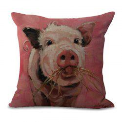 A1091-2 Lovely Pig Print Sofa Soft Cushion Cover Pillowcase for Bedroom Living Room 45x45cm -