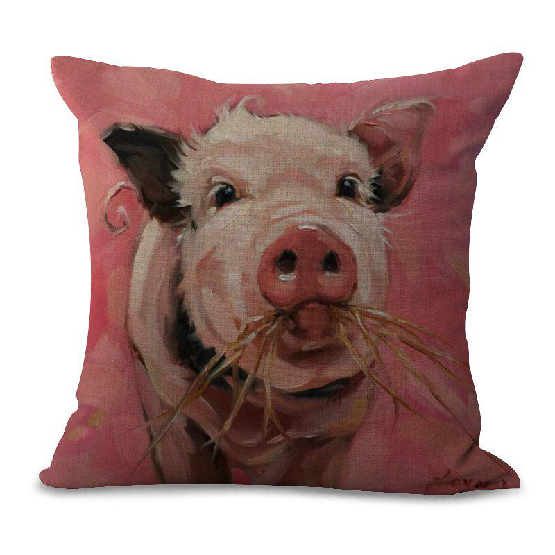Store A1091-2 Lovely Pig Print Sofa Soft Cushion Cover Pillowcase for Bedroom Living Room 45x45cm