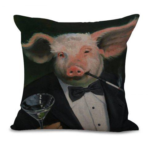 New A1091-5 Lovely Pig Print Sofa Soft Cushion Cover Pillowcase for Bedroom Living Room 45x45cm