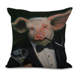 A1091-5 Lovely Pig Print Sofa Soft Cushion Cover Pillowcase for Bedroom Living Room 45x45cm -