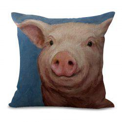 A1091-8 Cute Pig Print Sofa Cushion Cover Bedroom Living Room Pillowcase Waist Pillow Covers 45x45cm -