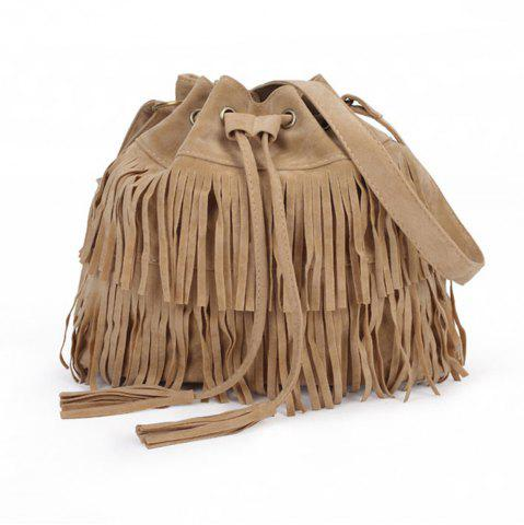 Affordable Pop Ladies Tassel Bucket Shoulder Bag