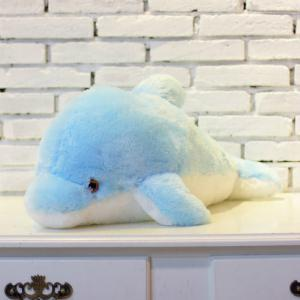 Glowing Dolphin Plush Toy Inductive Luminous with LED Lights Doll for Kids -