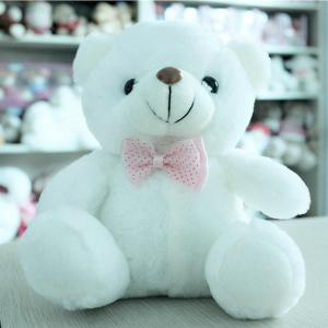 Glowing Bear Style with Tie Plush Toy Inductive Luminous Doll -