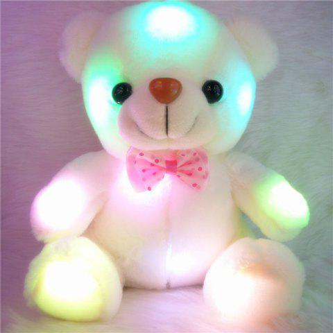 Store Glowing Bear Style with Tie Plush Toy Inductive Luminous Doll