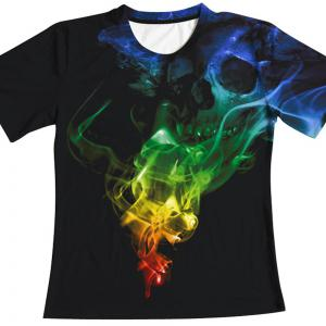 Skull Digital Printing Short-Sleeved T-Shirt -