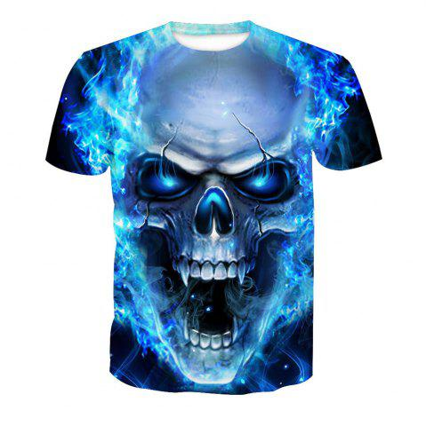 Fancy Skeleton Digital Printing Short-Sleeved T-Shirt
