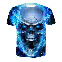 Skeleton Digital Printing Short-Sleeved T-Shirt -