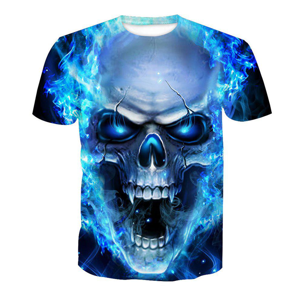 Latest Skeleton Digital Printing Short-Sleeved T-Shirt