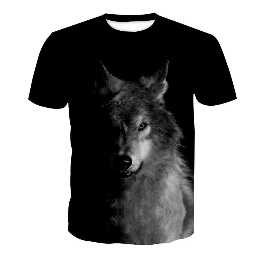 Online Wolf Digital Printing Short-Sleeved T-Shirt