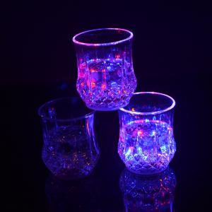 Water Sense Pineapple  Drinking Cup Colorful Light Glass LED  Bar Party Creative Gifts -