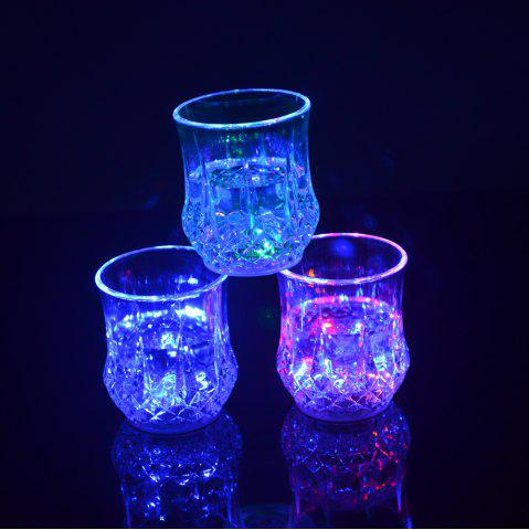 Discount Water Sense Pineapple  Drinking Cup Colorful Light Glass LED  Bar Party Creative Gifts