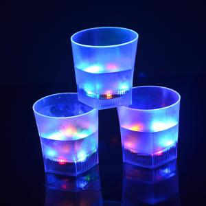 7 Color Flash  LED Light Beer Glass  Creative Water Sensor Grinding Drink Cup -