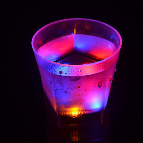 Chic 7 Color Flash  LED Light Beer Glass  Creative Water Sensor Grinding Drink Cup