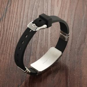 Fashion Men's Bracelet Wristband Stainless Steel Magnetic Clasp Bangle -