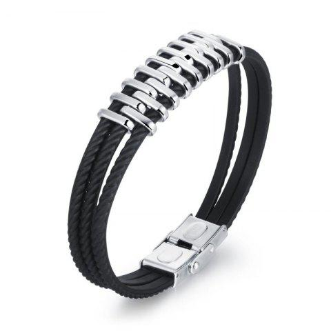 Best Braided Leather Bracelet for Men Bangle Wrap Stainless Steel Magnetic-Clasp