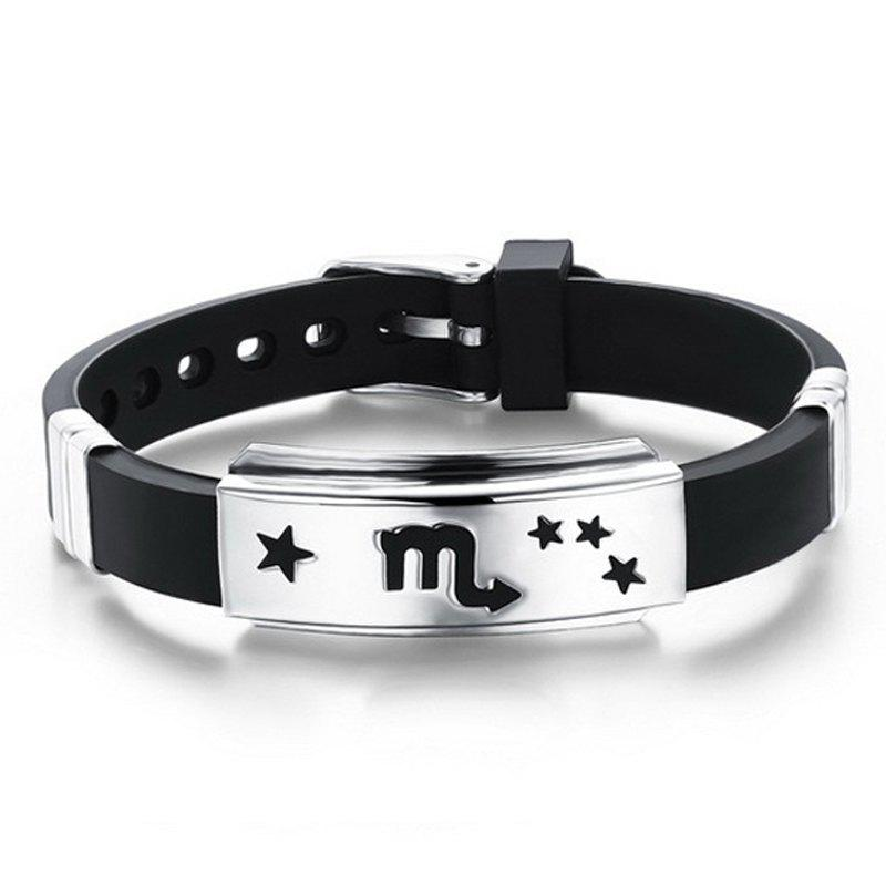 Hot Fashion Stainless Steel Magnetic Clasp Leather Wristband Bracelet