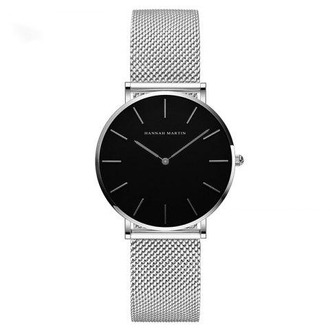 Buy Hannah Martin Lady Stainless Steel Mesh Waterproof Fashion Casual Thin Quartz Watch