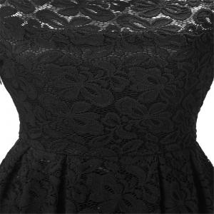 Women Long Sleeve Off Shoulder Vintage Lace Tunic Dresses -