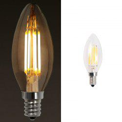 10PCS 4W LED 220V Filament Candle Light Bulb 3000K 6000K E14 -