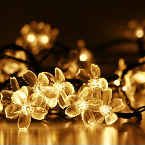 Discount GMY Lighting Imports 50 LED Warm White Solar Flower Shaped Christmas String Lights Garden Holiday Party Decor