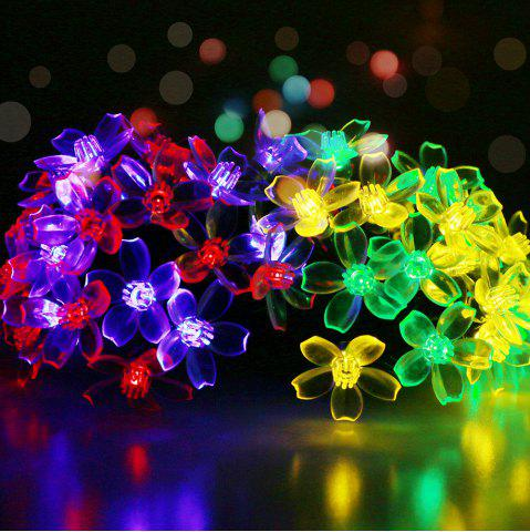 Unique GMY Lighting Imports 50 LED MultiColor Solar Flower Shaped Christmas String Lights Garden Holiday Party Decor
