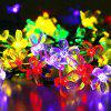 GMY Lighting Imports 50 LED MultiColor Solar Flower Shaped Christmas String Lights Garden Holiday Party Decor -