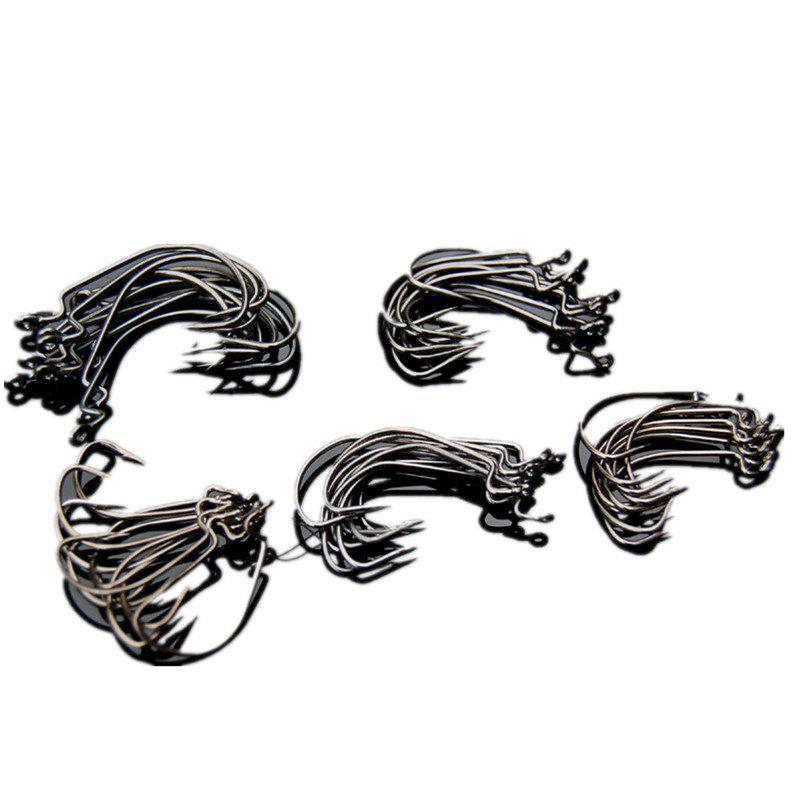 Fancy 50PCS High Carbon Steel Different Size Saltwater Freshwater Fishing Hooks
