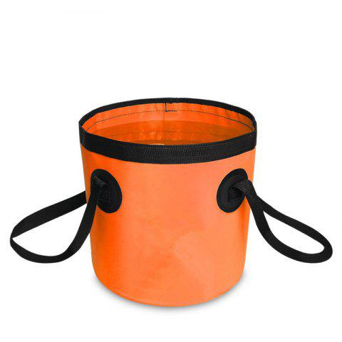 Affordable Portable Folding Water Container Lightweight Durable Includes Handy Tool Mesh Pocket