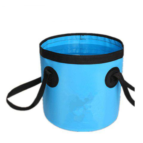 Online Portable Folding Water Container Lightweight Durable Includes Handy Tool Mesh Pocket