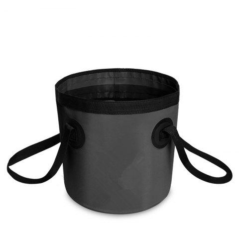 Hot Portable Folding Water Container Lightweight Durable Includes Handy Tool Mesh Pocket
