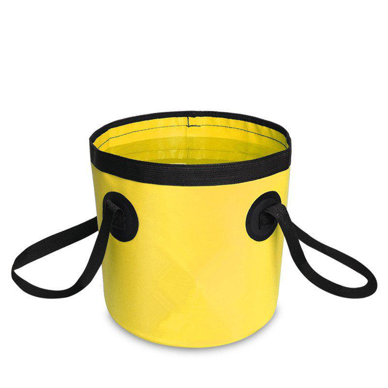Fashion Portable Folding Water Container Lightweight Durable Includes Handy Tool Mesh Pocket