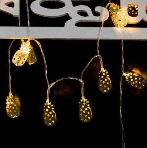 Shop Iron Golden Pineapple Christmas String Lights Fairy LED Home Decor Light Home Garden of Battery Powered 1.65M 10 LED