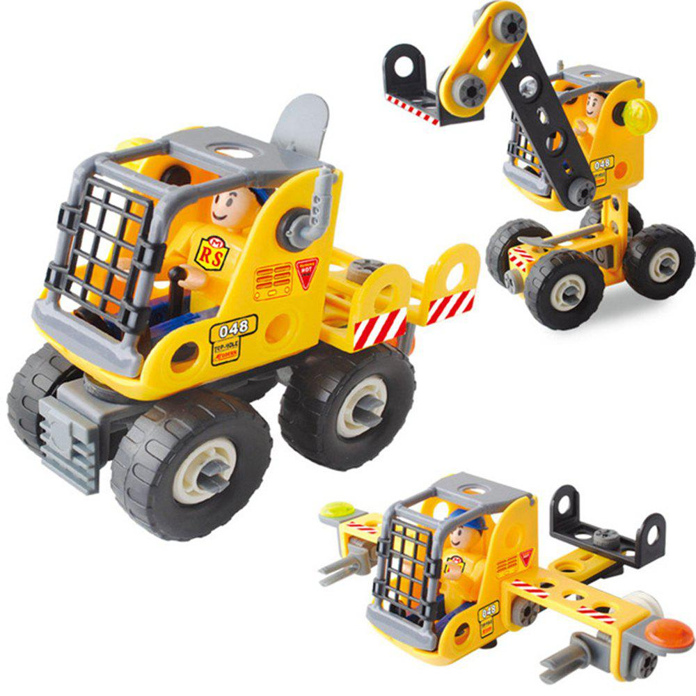 Cheap DIY 3 in 1 Education 3D Building Blocks Puzzle Kids Mechanical Engineering Construction Truck Technical Vehicle