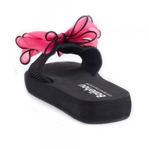 Women Casual Handmade Bowknot Non-Slip Beach Slippers -