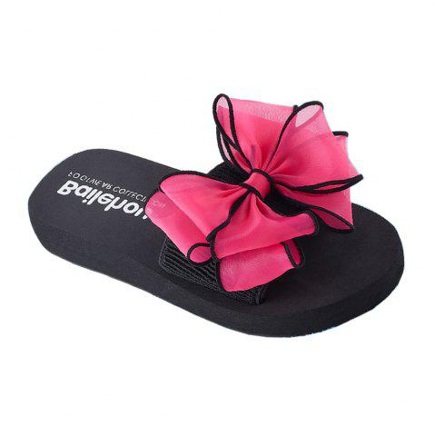 Outfit Women Casual Handmade Bowknot Non-Slip Beach Slippers