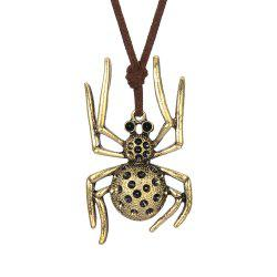 Fashion Ornament Spider Metal Pendant Necklace Sweater Chain -