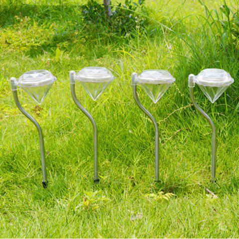 Store Outdoor LED Solar Powered Garden Path Stake Lanterns Lamps LED Diamonds Lawn Light