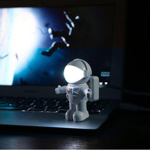 Sale Mini Reading Lamp USB Tube for Computer Laptop PC Notebook Pure White Portable Spaceman Astronaut LED Night Light Adjust