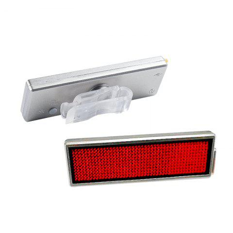 Best LEADBIKE USB Rechargeable DIY LED Bicycle Taillight Electronic Display Badge Advertising Screen Lamp Helmet Light